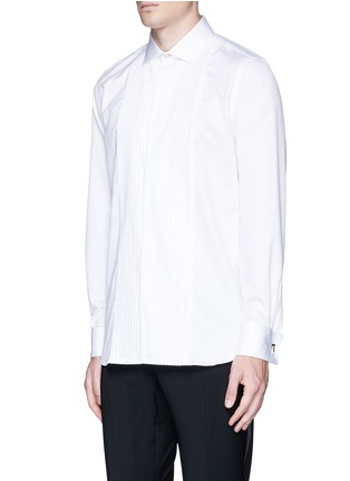 Front View - Click To Enlarge - Paul Smith - Pleated bib cotton tuxedo shirt