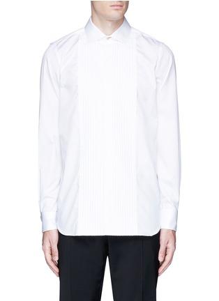 Main View - Click To Enlarge - Paul Smith - Pleated bib cotton tuxedo shirt