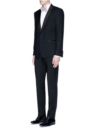 Figure View - Click To Enlarge - Paul Smith - Pleated bib cotton tuxedo shirt