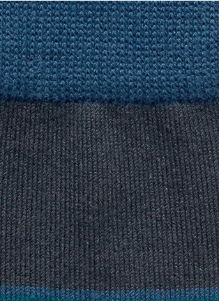 Detail View - Click To Enlarge - Paul Smith - 'Gradient Block' stripe cotton socks