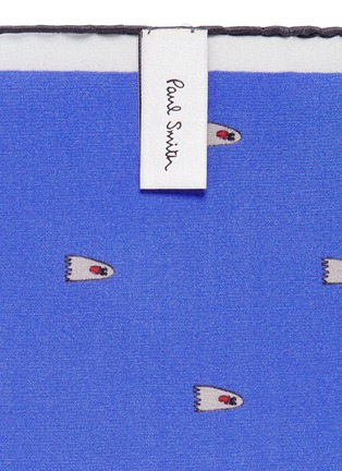Detail View - Click To Enlarge - Paul Smith - Ghost print pocket square