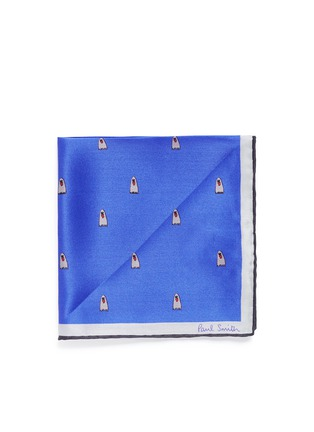 Main View - Click To Enlarge - Paul Smith - Ghost print pocket square