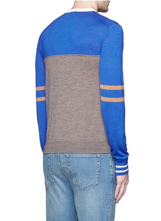 Back View - Click To Enlarge - Paul Smith - Colourblock stripe wool-silk sweater