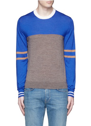 Main View - Click To Enlarge - Paul Smith - Colourblock stripe wool-silk sweater