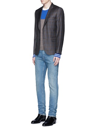 Figure View - Click To Enlarge - Paul Smith - Colourblock stripe wool-silk sweater