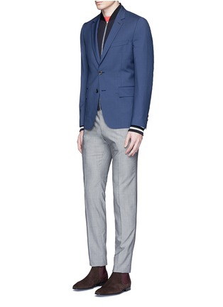 Figure View - Click To Enlarge - Paul Smith - 'Soho' wool-Mohair hopsack blazer