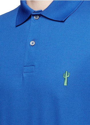 Detail View - Click To Enlarge - Paul Smith - x Gufram cactus embroidery polo shirt