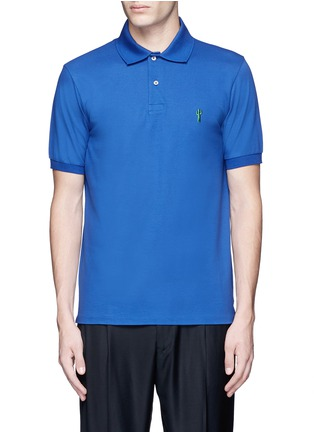 Main View - Click To Enlarge - Paul Smith - x Gufram cactus embroidery polo shirt