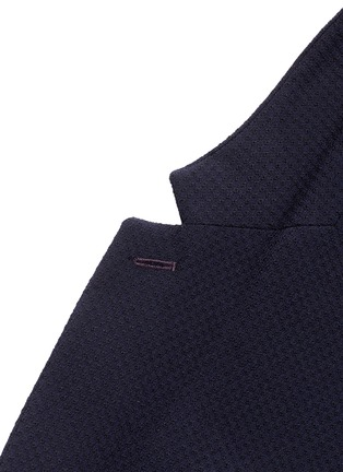 Detail View - Click To Enlarge - PAUL SMITH - 'Soho' lattice overlay wool soft blazer