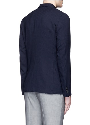 Back View - Click To Enlarge - PAUL SMITH - 'Soho' lattice overlay wool soft blazer