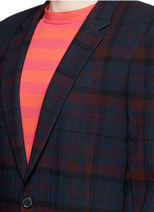 Detail View - Click To Enlarge - Paul Smith - 'Soho' muted check plaid wool blazer