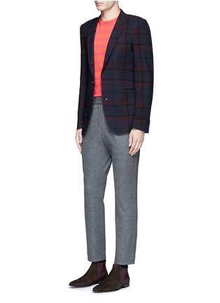 Figure View - Click To Enlarge - Paul Smith - 'Soho' muted check plaid wool blazer