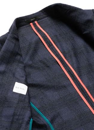 - Paul Smith - 'Soho' bouclé check plaid double breasted soft blazer