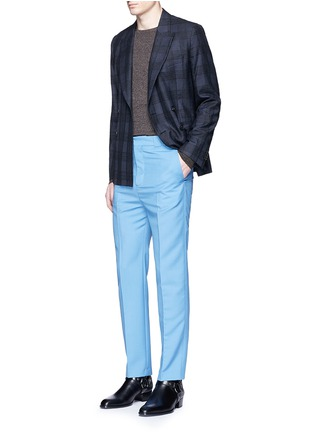 Figure View - Click To Enlarge - PAUL SMITH - 'Soho' bouclé check plaid double breasted soft blazer