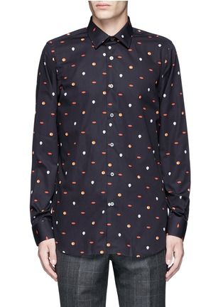 Main View - Click To Enlarge - Paul Smith - Mixed motif print cotton shirt