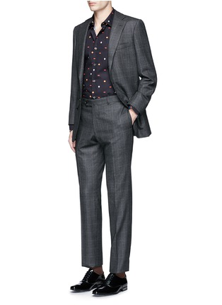 Figure View - Click To Enlarge - Paul Smith - Mixed motif print cotton shirt