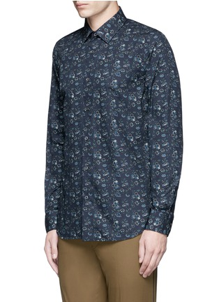 Front View - Click To Enlarge - Paul Smith - 'Vine Floral' print cotton shirt