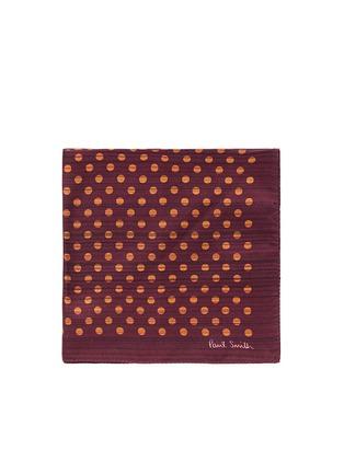 Main View - Click To Enlarge - Paul Smith - Stripe polka dot print pocket square