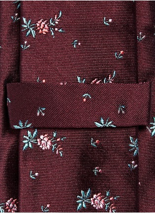 Detail View - Click To Enlarge - PAUL SMITH - Floral embroidery silk tie