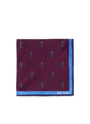 Main View - Click To Enlarge - Paul Smith - x Gufram cactus print pocket square