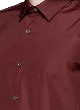 Detail View - Click To Enlarge - Paul Smith - Contrast cuff lining cotton shirt