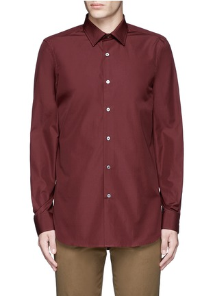 Main View - Click To Enlarge - Paul Smith - Contrast cuff lining cotton shirt