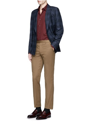 Figure View - Click To Enlarge - Paul Smith - Contrast cuff lining cotton shirt