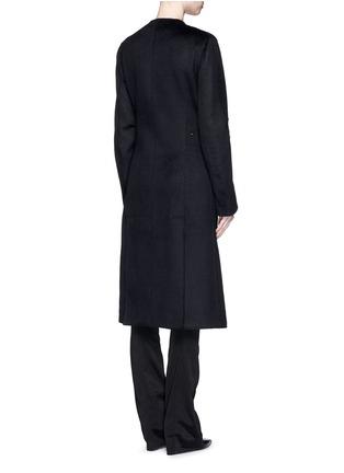 Back View - Click To Enlarge - Esteban Cortazar - Trigger hook fastening double face cashmere coat