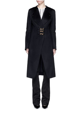 Main View - Click To Enlarge - Esteban Cortazar - Trigger hook fastening double face cashmere coat