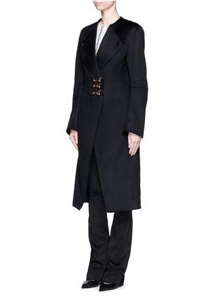 Figure View - Click To Enlarge - Esteban Cortazar - Trigger hook fastening double face cashmere coat