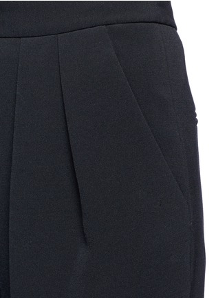 Detail View - Click To Enlarge - ROKSANDA - 'Larchmont' pintuck front wide leg pants