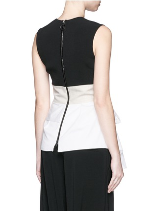 Back View - Click To Enlarge - Roksanda - 'Renae' colourblock peplum top