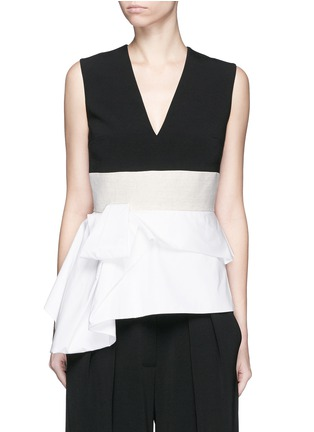 Main View - Click To Enlarge - Roksanda - 'Renae' colourblock peplum top