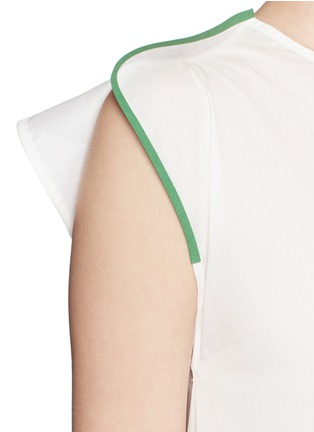 Detail View - Click To Enlarge - Ports 1961 - Contrast piping asymmetric hem sleeveless top