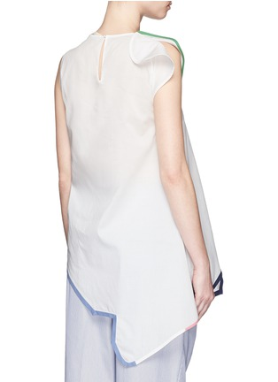 Back View - Click To Enlarge - Ports 1961 - Contrast piping asymmetric hem sleeveless top