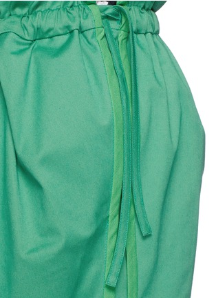 Detail View - Click To Enlarge - PORTS 1961 - Paperbag waist drawstring cotton twill shorts