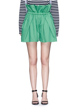 Main View - Click To Enlarge - PORTS 1961 - Paperbag waist drawstring cotton twill shorts