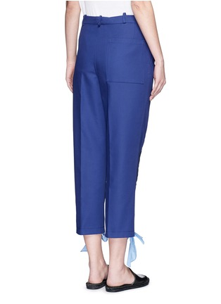Back View - Click To Enlarge - Ports 1961 - Ribbon tie zip cuff cropped pants