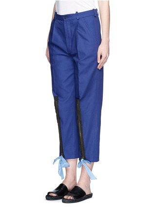 Front View - Click To Enlarge - Ports 1961 - Ribbon tie zip cuff cropped pants
