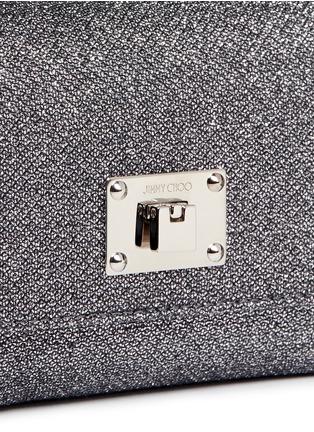 Detail View - Click To Enlarge - Jimmy Choo - 'Ruby L' glitter lamé crossbody bag