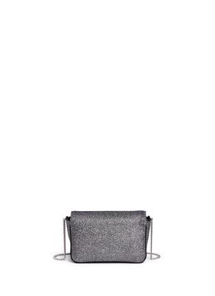 Back View - Click To Enlarge - Jimmy Choo - 'Ruby L' glitter lamé crossbody bag