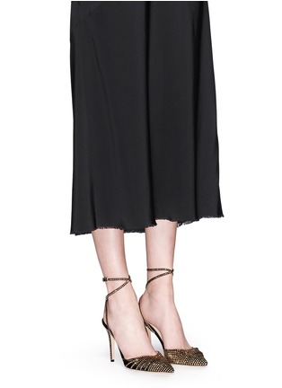 Figure View - Click To Enlarge - Jimmy Choo - 'Kizzy' stud suede d'Orsay pumps