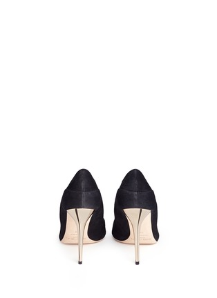 Back View - Click To Enlarge - Jimmy Choo - 'Tamika' mirror leather gusset wavy suede pumps
