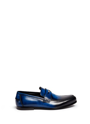 Main View - Click To Enlarge - Jimmy Choo - 'Darblay' leather penny loafers