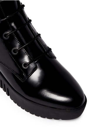 Detail View - Click To Enlarge - OPENING CEREMONY - 'Grunge' lace-up leather platform ankle boots