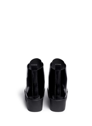 Back View - Click To Enlarge - OPENING CEREMONY - 'Grunge' lace-up leather platform ankle boots