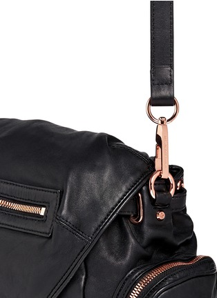 Detail View - Click To Enlarge - Alexander Wang  - 'Mini Marti' washed leather three-way backpack