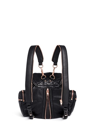Back View - Click To Enlarge - Alexander Wang  - 'Mini Marti' washed leather three-way backpack