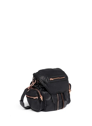 Front View - Click To Enlarge - Alexander Wang  - 'Mini Marti' washed leather three-way backpack