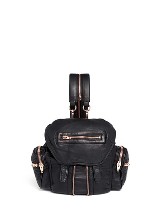 Main View - Click To Enlarge - Alexander Wang  - 'Mini Marti' washed leather three-way backpack